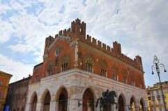 Palazzo gotico Piacenza L'Emilia Romagna L'Italia Fotografie Stock