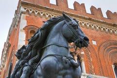 Palazzo gotico Piacenza L'Emilia Romagna L'Italia Immagini Stock