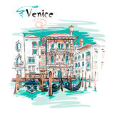 Palazzo on the Grand Canal in Venice, Italia Royalty Free Stock Images