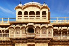 palazzo Haveli-privato in India. Città di Jaisalmer fotografie stock libere da diritti