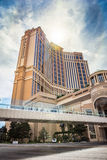 The Palazzo Hotel and Casino. View of The Palazzo Hotel and Casino from street level Royalty Free Stock Photography