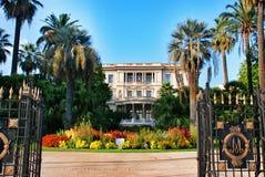 Palazzo il Riviera francese, paesaggio urbano Nizza della Francia fotografia stock