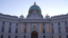 Palazzo imperiale Hofburg a Vienna immagine stock