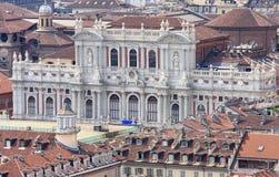 Palazzo italiano Carignano a Torino, valle di Aosta immagine stock