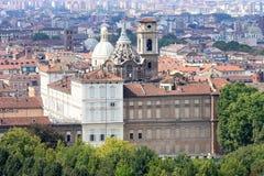 Palazzo italiano Reale a Torino fotografie stock