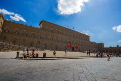 Palazzo itti在佛罗伦萨,托斯卡纳,意大利 免版税库存图片