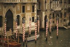 Palazzo Justiniani, Grand Canal. MotorboatVeniceItaly royalty free stock photos