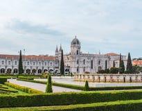 Palazzo a Lisbona nel Portogallo immagine stock libera da diritti