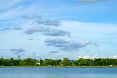 Palazzo locale del paesaggio di paesaggio della città in Na di Nakhonprathom Tailandia Immagini Stock