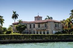 Palazzo lussuoso sull'isola della stella a Miami Fotografie Stock Libere da Diritti