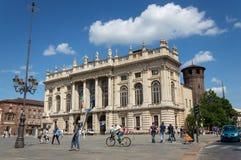 Palazzo Madama i Turin Arkivfoto