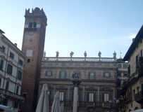 Palazzo Maffei Верона Италия Стоковое фото RF