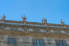 Palazzo Maffei, Verona, Italien Royaltyfria Foton