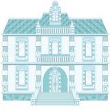 Palazzo magico del blu di ghiaccio vecchio Immagini Stock Libere da Diritti