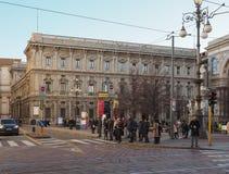 Palazzo Marino slott i Milan Royaltyfri Fotografi