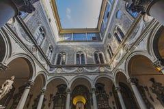 Palazzo Medici Riccardi i Florence, Italien Arkivbild