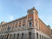 Palazzo Montecitorio,议会大厦后方门面在罗马意大利 库存照片