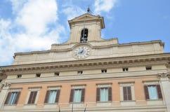 Palazzo Montecitorio στη Ρώμη Στοκ Φωτογραφίες