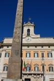 Palazzo Montecitorio дворец в Риме и месте Ita Стоковые Фотографии RF