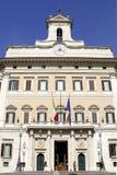 Palazzo Montecitorio в Риме стоковое изображение