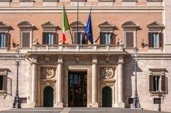 Palazzo Montecitorio immagini stock