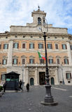 Palazzo Montecitorio palace in Rome, Italy, the seat of the Ital Stock Images