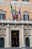 Palazzo Montecitorio palace in Rome, Italy, the seat of the Ital Stock Photos