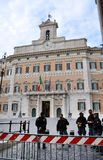 Palazzo Montecitorio palace in Rome, Italy, the seat of the Ital Royalty Free Stock Images