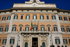 Palazzo Montecitorio is a palace in Rome and the seat of the Ita Stock Images