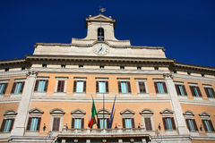 Palazzo Montecitorio is a palace in Rome and the seat of the Ita Stock Photography