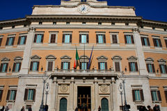 Palazzo Montecitorio is a palace in Rome and the seat of the Ita Stock Photos