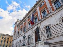 Palazzo Montecitorio Rome Italy Stock Photo