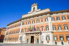 Palazzo Montecitorio, Rome, Italy Stock Photos