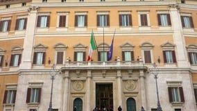 Palazzo Montecitorio Rome italy stock footage