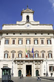 Palazzo Montecitorio in Rome Stock Image