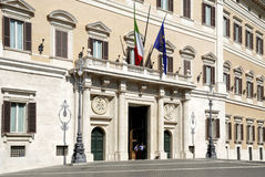 Palazzo Montecitorio in Rome Royalty Free Stock Photo