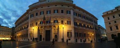 Palazzo Montecitorio w Rzym Zdjęcia Royalty Free