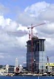 Palazzo multipiano in costruzione Fotografia Stock