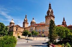Palazzo nazionale a Barcellona Immagini Stock Libere da Diritti