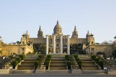Palazzo nazionale di Barcellona Fotografie Stock
