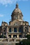 Palazzo nazionale su montjuic a Barcellona Immagine Stock Libera da Diritti