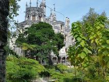 Palazzo nel palazzo degli alberi di verde di sintra Fotografie Stock