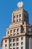 Palazzo nel quadrato della Catalogna Fotografia Stock Libera da Diritti