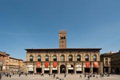 Palazzo nel quadrato principale di Bologna fotografia stock
