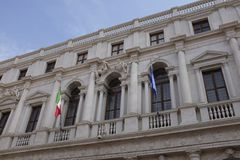 Palazzo Nuovo在贝加莫,现在图书馆 库存图片