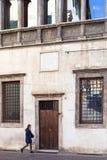 Palazzo på den Contra Piancoli gatan i Vicenza Arkivfoto