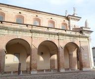 Palazzo på piazza Repubblica i Urbino royaltyfri bild