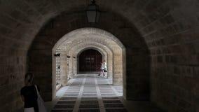 Palazzo Palma de Mallorca di Almudaina della La stock footage