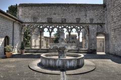 Palazzo papale della fontana di Viterbo Fotografia Stock