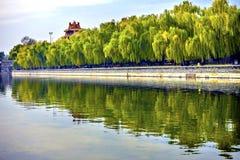 Palazzo Pechino Chin di Gugong la Città proibita della torre dell'orologio della freccia del fossato Fotografia Stock Libera da Diritti
